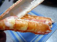 生ずわいがにを焼いて食べる